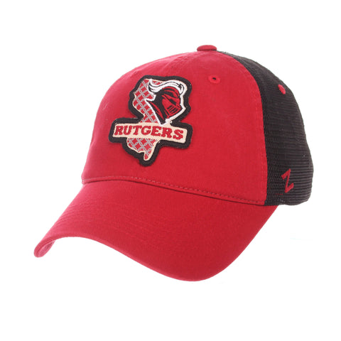 "Rutgers Scarlet Knights Zephyr ""Freeway"" Red w/ Black Mesh Adj. Slouch Hat Cap"