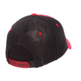 "Wisconsin Badgers Zephyr ""Freeway"" Red w/ Black Mesh Adj. Slouch Hat Cap"