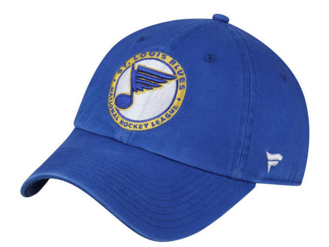 St. Louis Blues Fanatics Royal Blue Retro Adj. Strapback Slouch Relax Hat Cap