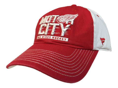 "Detroit Red Wings Fanatics Red & Beige ""Motor City"" Adj. Strap Slouch Hat Cap"