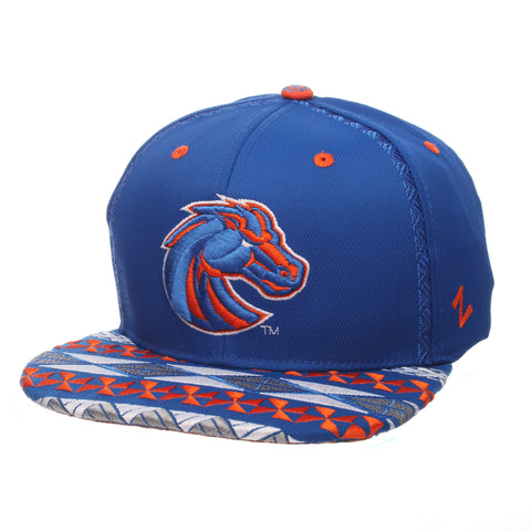 "Boise State Broncos Zephyr Blue ""Makai"" TOA Collection Adj. Flat Bill Hat Cap"