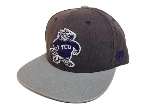 "TCU Horned Frogs TOW Two-Tone ""Saga"" Vintage Snapback Flat Bill Hat Cap"