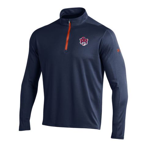 Auburn Tigers Under Armour Midnight Navy Golf Loose 1/4 Zip LS Pullover
