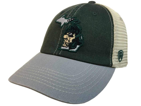 Michigan State Spartans TOW United Mesh Vintage Logo Adj Snapback Slouch Hat Cap