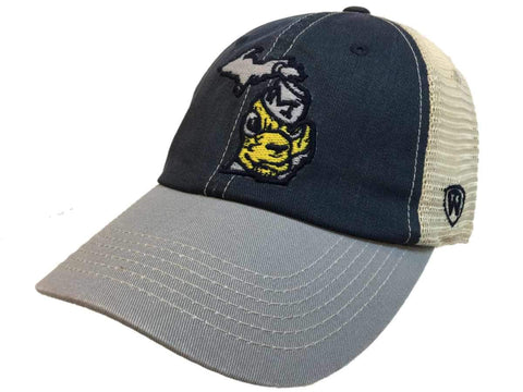 Michigan Wolverines TOW United Mesh Vintage Logo Adj Snapback Relax Fit Hat Cap