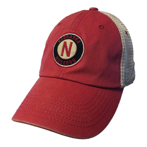 "Nebraska Cornhuskers TOW Red Two-Tone ""Haven"" Mesh Adj. Snapback Slouch Hat Cap"