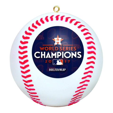 Houston Astros 2017 World Series Champions Baseball Christmas Tree Ornament