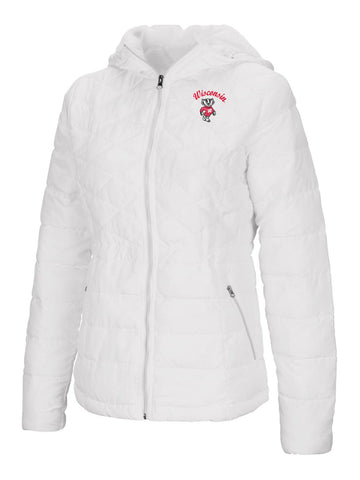 "Wisconsin Badgers Colosseum WOMEN'S ""As You Wish"" Hooded Puffer Jacket"