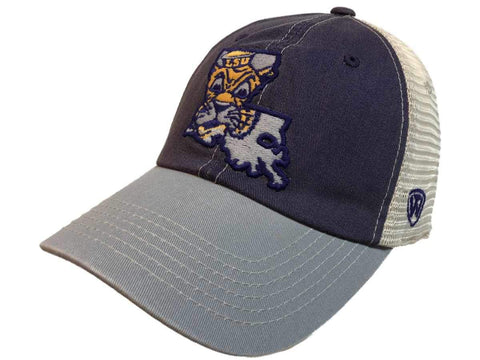 LSU Tigers TOW United Mesh Vintage Logo Adjustable Snapback Slouch Hat Cap