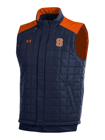 Syracuse Orange Under Armour Midnight Navy Storm Loose Coldgear Full Zip Vest
