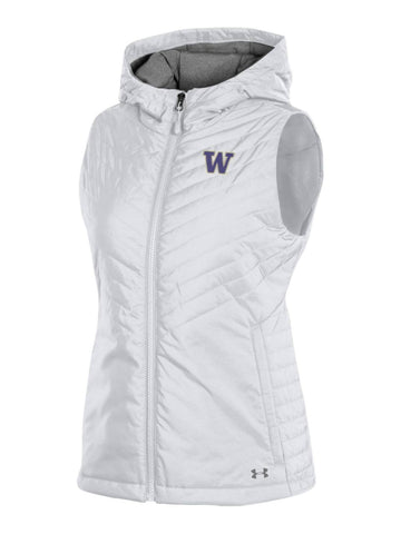dce711dca7295f Washington Huskies Under Armour WOMEN'S White Storm Fitted Hooded Puffer  Vest
