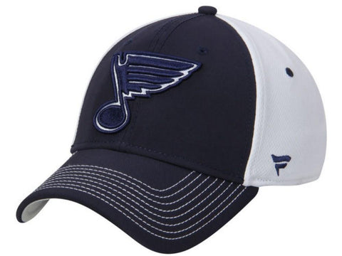 St. Louis Blues Fanatics NHL Structured Flexfit Navy White Hat Cap (M/L)