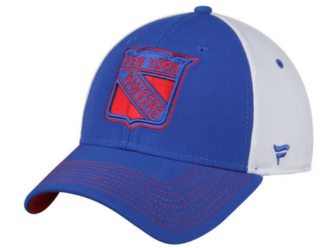 New York Rangers Fanatics NHL Structured Flexfit Blue White Hat Cap (M/L)