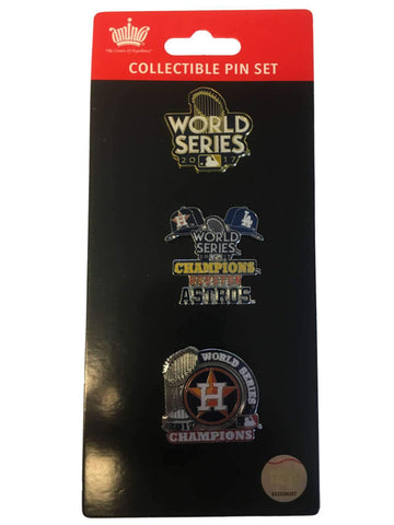 Houston Astros 2017 World Series Champions Aminco Collectible Pin Set (3 Pack)