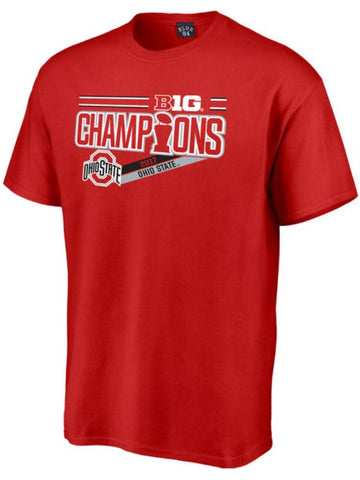 Ohio State Buckeyes 2017 Big 10 Champions Locker Room NCAA Football Red T-Shirt