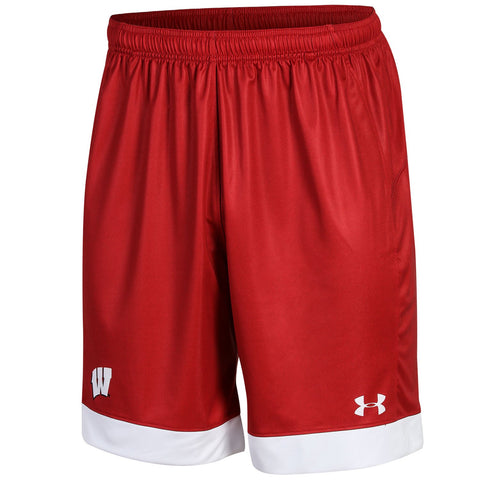 Wisconsin Badgers Under Armour Red Loose HeatGear Drawstring Soccer Shorts