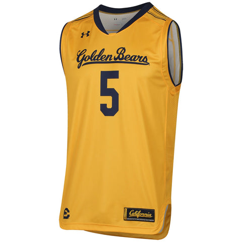 Cal Golden Bears Under Armour Steeltown Gold HeatGear #5 Replica Jersey