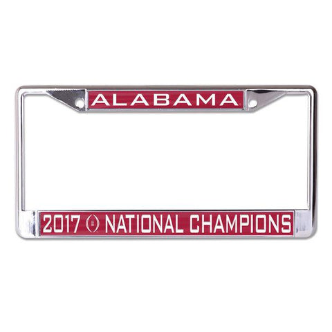 Alabama Crimson Tide 2017-2018 CF National Champions Inlaid License Plate Frame