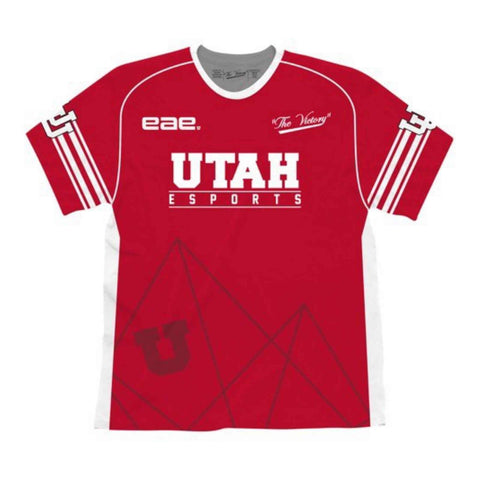 "Utah Utes EAE Video Game Design eSports ""GAMER U"" Red Authentic Jersey - Sporting Up"