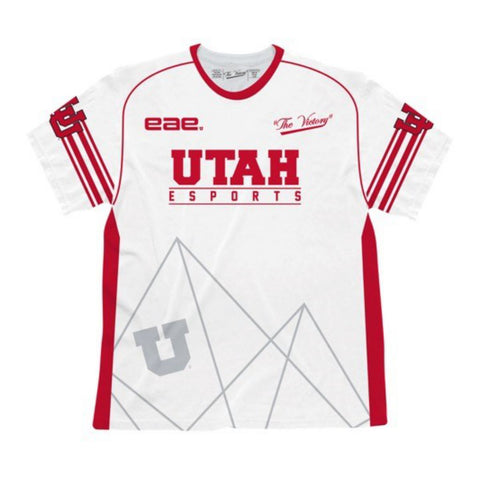 "Utah Utes EAE Video Game Design eSports ""GAMER U"" White Authentic Jersey - Sporting Up"