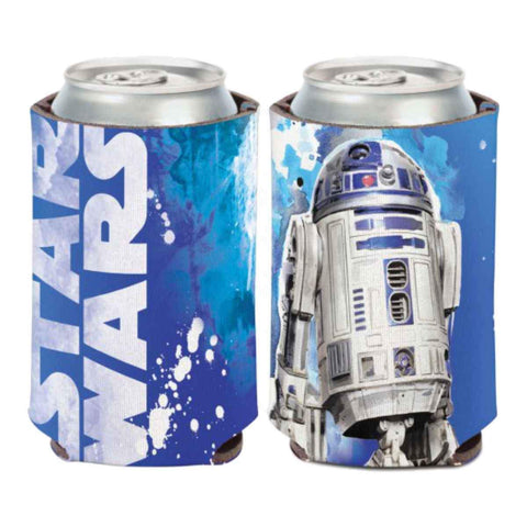 R2-D2 STAR WARS WinCraft Blue & White Neoprene Can Cooler (12oz)