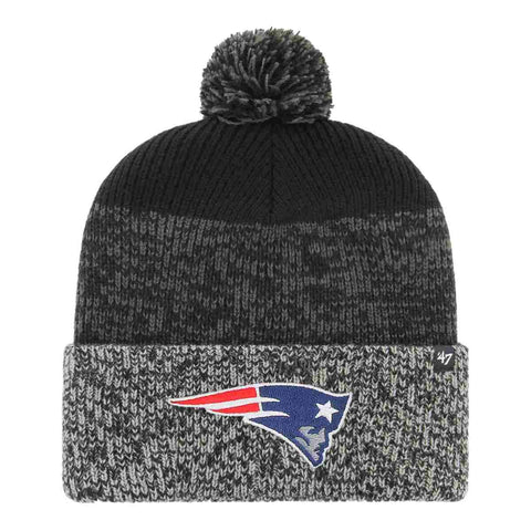 New England Patriots 2018 Super Bowl 52 LII Cuffed Poofball Knit Beanie Hat Cap