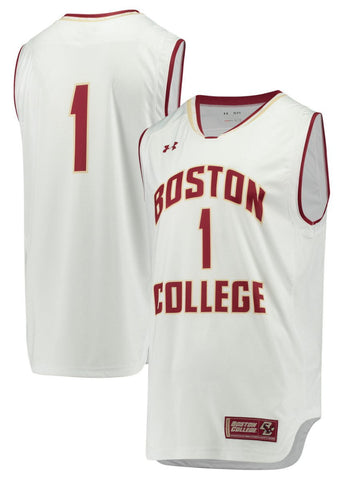 Boston College Eagles Under Armour NCAA Basketball Replica White #1 Jersey