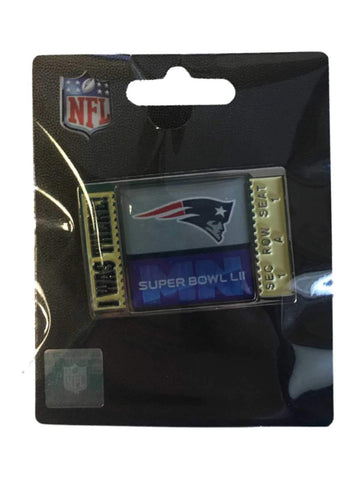 "New England Patriots 2018 Super Bowl 52 LII Aminco ""I WAS THERE"" Lapel Pin"