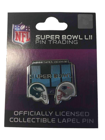 New England Patriots Philadelphia Eagles 2018 Super Bowl 52 LII Dueling Pin