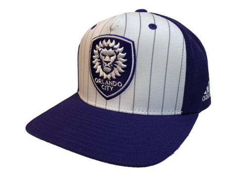 Shop Orlando City Adidas White Purple Structured Adj. Snapback Flat Bill Hat Cap