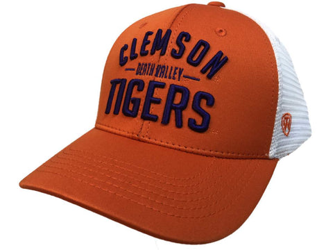 "Clemson Tigers TOW Orange Trainer ""Death Valley"" Mesh Adj. Snapback Hat Cap"