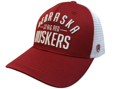 "Nebraska Cornhuskers TOW Red Trainer ""Go Big Red"" Mesh Snapback Hat Cap - Sporting Up"