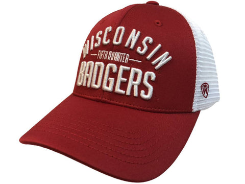 "Wisconsin Badgers TOW Red Trainer ""Fifth Quarter"" Mesh Adj. Snapback Hat Cap"