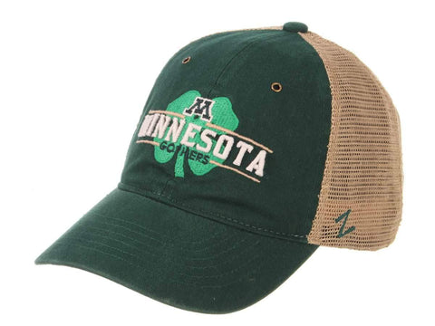 Minnesota Gophers Zephyr Cloverfield St. Patricks Day Mesh Green Adj Hat Cap - Sporting Up