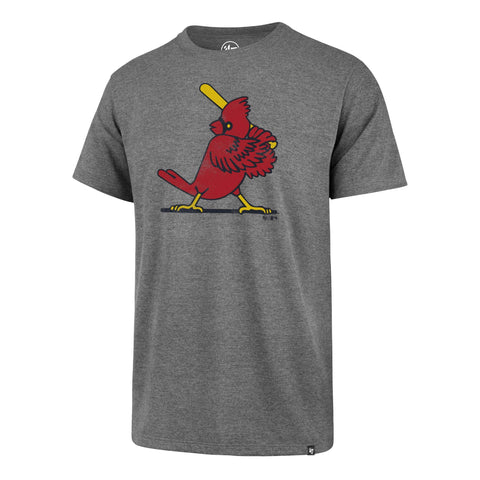 St. Louis Cardinals 47 Brand Gray with Distressed Logo Throwback Club SS T-Shirt