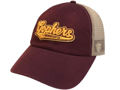 Minnesota Golden Gophers TOW Maroon with Tan Mesh Adj. Snapback Slouch Hat Cap