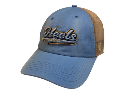 North Carolina Tar Heels TOW Baby Blue with Tan Mesh Snapback Slouch Hat Cap