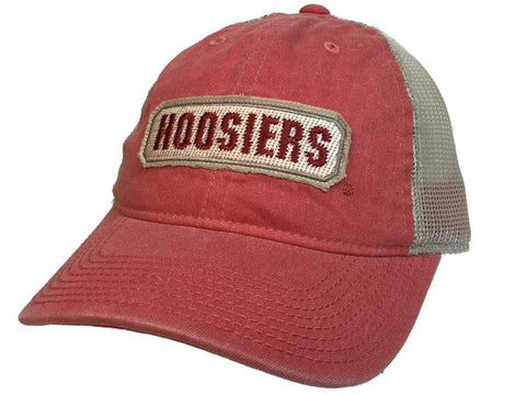 new product 2f004 cab56 Shop Indiana Hoosiers Adidas Sun Bleached Red Tan Mesh Back Snapback Slouch Hat  Cap