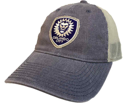 Orlando City SC Adidas Sun Bleached Purple Tan Mesh Back Snapback Slouch Hat Cap