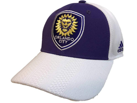 Orlando City SC Adidas Two-Tone Authentic Structured Mesh Snapback Hat Cap