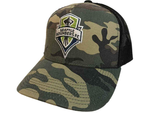 15f20830360 Seattle Sounders FC Adidas Camouflage Black Mesh Back Snapback Trucker Hat  Cap