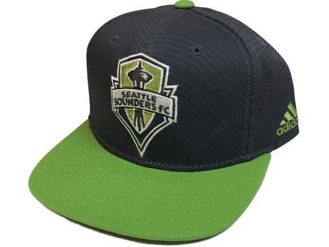 2f6eabf3ac1 Seattle Sounders FC Adidas Two-Tone Structured Snapback Flat Bill Hat Cap