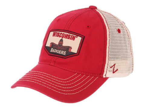 "Shop Wisconsin Badgers Zephyr ""Trademark"" Capital Building Mesh Adj. Slouch Hat Cap"