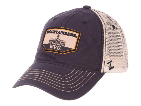 "West Virginia Mountaineers Zephyr ""Trademark"" Wooburn Hall Mesh Adj. Hat Cap"