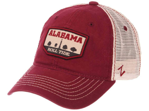 "Alabama Crimson Tide Zephyr Red ""Trademark"" Denny Chimes Mesh Adj Slouch Hat Cap"