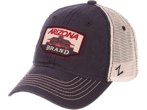 "Arizona Wildcats Zephyr Navy ""Trademark"" Old Main Mesh Adj. Slouch Hat Cap"