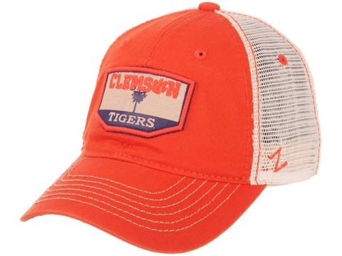 "Clemson Tigers Zephyr Orange ""Trademark"" Palmetto Tree Mesh Adj. Slouch Hat Cap"