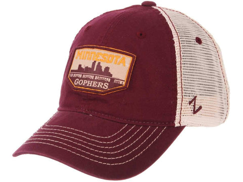 "Minnesota Golden Gophers Zephyr ""Trademark"" Skyline Mesh Adj. Slouch Hat Cap"