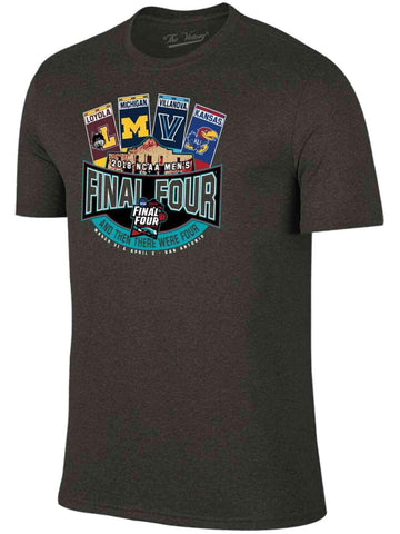 huge selection of e9b50 d7f1a 2018 NCAA Final Four March Madness Basketball Alamo Tickets Charcoal T-Shirt