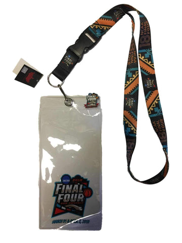 2018 NCAA Final Four March Madness San Antonio Ticket Holder Lanyard & Pin Set